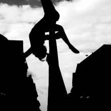 Vzdušná akrobacie na šálách - art foto